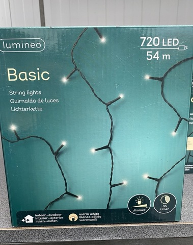 Kerstboomverlichting 54m