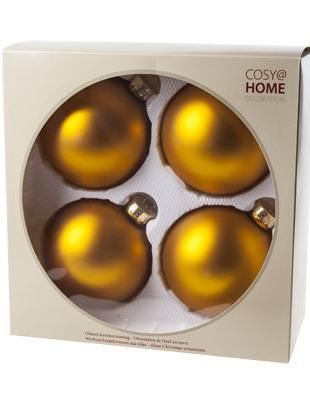 Kerstbal Goud Set 4