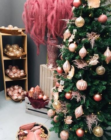 Kerstbal Roze Set 2