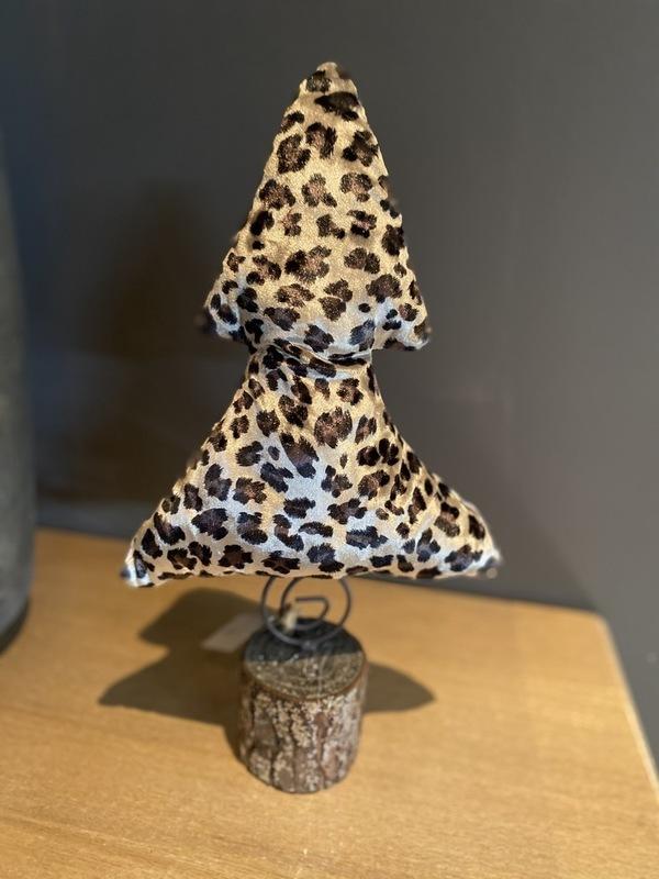 Kerstboompje Luipaard Velours Small