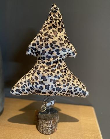 Kerstboompje Luipaard Velours Large