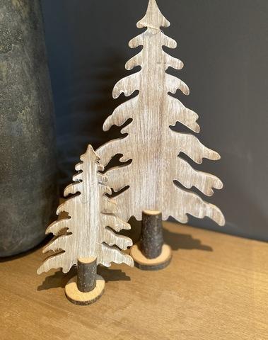 Kerstboom Hout Set 2