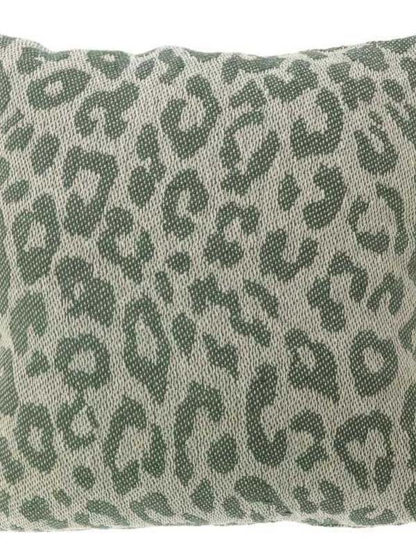 Kussen Luipaard Oil Green